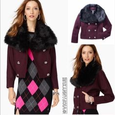 🎉HP🎉🎉Juicy Couture burgundy wool jacket xs Brand new,  Wool/polyamide/polyester; lining: polyester. ❌NO TRADE‼️ Juicy Couture Jackets & Coats