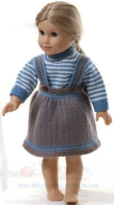 """dolls clothes knitting pattern - Every day's clothes"""" for my doll"""