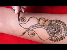 arebic easy beautiful mehndi design || simple bridal henna mehndi design || latest henna design 2020 - YouTube Arabian Mehndi Design, Mehndi Ka Design, Mehndi Designs Book, Mehndi Designs For Girls, Mehndi Design Photos, Wedding Mehndi Designs, Mehndi Designs For Fingers, Beautiful Mehndi Design, Mehndi Designs For Hands