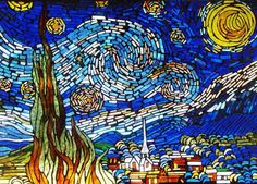 mosaic tile pattern starry night - Google Search