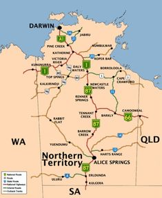 Get your bearings: Northern Territory Map - #matt4ustoa #NTAustralia