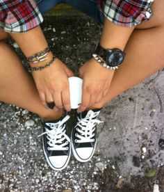 Converses and Plaid
