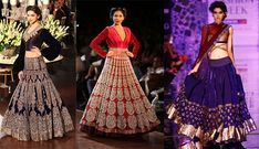 Red isn't the only color for bridal lehengas these days.