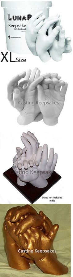 Keepsakes and Baby Announcements 117388: Xl Clasped Family Hands Keepsake Molding Casting Kit 4 Adults 2 Adults +4 Kids -> BUY IT NOW ONLY: $89.06 on eBay!