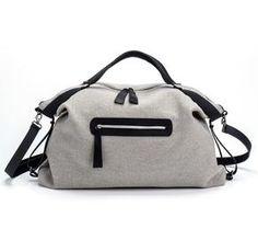Grey Tote Bag / Gray Shoulder Bag / Oversize Bag / Cotton Handbag / Everyday Bag / Weekend Leather Bag / Lined Bag / Women Purse - Maryus