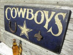 Dallas Cowboy Sign hand painted original art by ZekesAntiqueSigns.