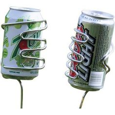 Picnic Plus PSM-162 Set of 2 Handy Holder Beverage in Silver