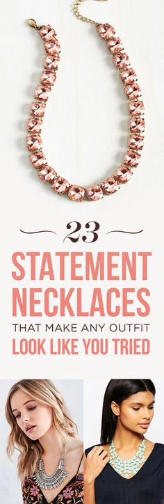 23 Statement Necklaces That'll Make Any Outfit Look Like You Tried