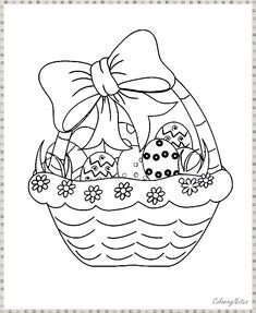 Easter Coloring Pages Free Printable Easter Coloring Pages Printable, Easter Egg Coloring Pages, Easy Coloring Pages, Coloring Pages To Print, Easter Bunny Pictures, Easter Activities For Kids, Easter Season, Children, Young Children
