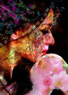 photo-manipulation : Femme au voile