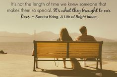 Love this quote from Sandra Kring's A Life of Bright Ideas!