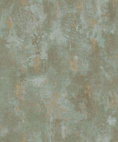 Vliestapete Stein Optik Patina patiniert spachtel grau gold olivgold creme beige