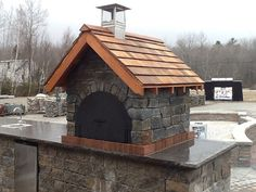 Gagne & Son Wood Fired Brick Pizza Oven in Maine