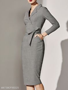 Sophisticated Work Attire and Office Outfits for Women to Look Stylish and Chic Classy Dress, Classy Outfits, Vintage Outfits, Casual Outfits, Dresses Elegant, Sexy Dresses, Formal Dresses, Wedding Dresses, Pretty Dresses
