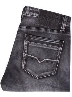 Jeans gris charbon profond Black Bull