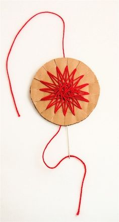 make woven cookie stars ornaments