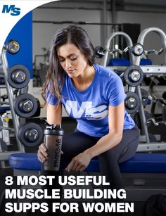 While there are no supplements that will help women build muscle without putting in the work, these 8 supplements are proven to help with the process! Muscle Building Women, Muscle Building Tips, Muscle Building Supplements, Build Muscle Fast, Gain Muscle, Supplements For Women, Weight Loss Supplements, Muscle Fitness, Fitness Tips