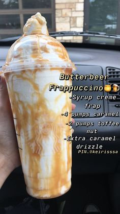 Starbucks Butterbier Frappuccino🍯🍺 You are in the right place about Coffee sayings Here we offer you the most beautiful pictures … Bebidas Do Starbucks, Healthy Starbucks Drinks, Yummy Drinks, Butterbeer Frappuccino, Starbucks Coffee, Starbucks Secret Frappuccino, Starbucks Cookies, Coffee Coffee, Starbucks Recipes