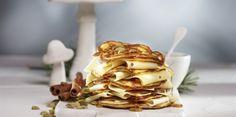 Canadian Pancakes - http://www.jarlsberg.com/recipes/canadian-pancakes