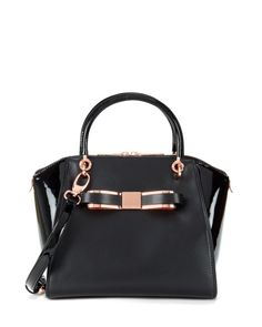 Leather tote bag - Black | Bags | Ted Baker UK