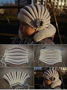Crochet ideas that you'll love Beanie Knitting Patterns Free, Baby Hats Knitting, Loom Knitting, Knitting Designs, Knitted Hats, Crochet Patterns, Crochet Mask, Diy Crochet, Crochet Waffle Stitch