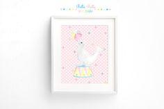 Printable Circus Seal Print 8x10 by BellaBellaStudios on Etsy