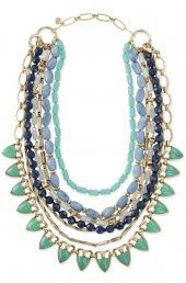 Stella and Dot new Spring line green necklace- Stella & Dot Sutton Necklace – Green Stone!