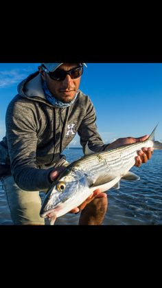 Justin Lewis of the Bonefish Tarpon Trust with a quality sized Bonefish.