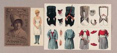 """Paper Dolls, 1790-1940 - The Collection of Shirley Fischer: 128 American Celebrity Paper Doll """"Miss Kate Castledon"""""""