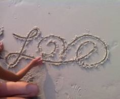 writing in the sand :)