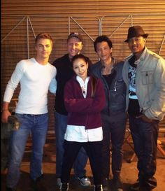 (L to R) Derek Hough, Duane Adler, BoA and MYM cast members Will Yun Lee and Wesley Jonathan
