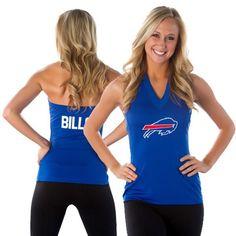 All Sport Couture Buffalo Bills NFL Women's Blown Cover Halter Top - Royal Blue