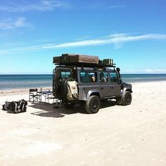 "Land Rover Defender 110 Td4 Sw Camping. ""Beach Life…""  thrilled totality"