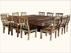 Large Dining Room Tables Seat 12 Dining Room Large Square Dining ...