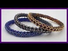 Orb Bangle Bracelet - - Orb Bangle Bracelet abalorios This channel is dedicated to the art of bead work. On this channel you will find fun and easy step by step bead weaving tutorials. Tutorials range from begin… Beaded Bracelets Tutorial, Woven Bracelets, Seed Bead Bracelets, Seed Bead Jewelry, Silver Bracelets, Beads Tutorial, Ring Bracelet, Bead Earrings, Beaded Bracelets
