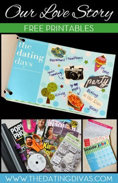 A FREE DIY mini-book of memories all about us!! www.TheDatingDivas.com #DIYgifts #giftsforhim #crafts