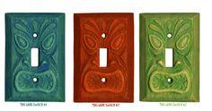 Tiki Light Switch Plates. $12.00, via Etsy.