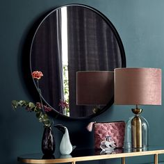 Large black circular mirror – Home Wall Mounted Hooks, Circular Mirror, Living Room Mirrors, Round Mirrors, Store Online, Large Black, Lust, Concept, Furniture
