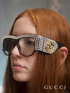 A scene from the surreal voyage imagined by Petra Collins for the Gucci Spring Summer 2017 eyewear film featuring key pieces from the new collection.