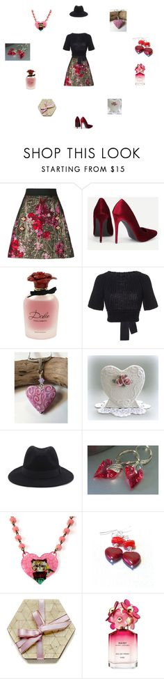 """""""flowers"""" by einder ❤ liked on Polyvore featuring Dolce&Gabbana, RED Valentino and Marc Jacobs"""
