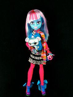 OOAK MONSTER HIGH Custom Blob Ice Girl  Doll / by GhoulsRule