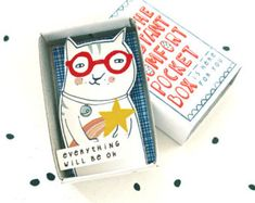 The Instant Comfort Pocket Box girl in blue by kimslittlemonsters