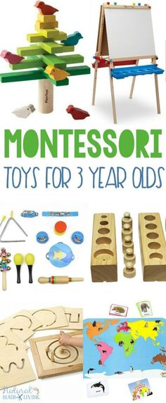 Montessori Gifts 3 Year Olds Love, Montessori Toys for 3 year olds, Wood Toys, The best Toys for Preschoolers, Great. 3 Year Old Activities, Infant Activities, Montessori Baby, Montessori Bedroom, Montessori Elementary, Montessori Education, Elementary Education, 3 Year Old Toys, Best Educational Toys