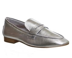 Buy Silver Leather Office Delight Loafers from OFFICE.co.uk. Leather Socks, Leather Loafers, Soft Leather, Silver Loafers, Tassel Loafers, Pump Shoes, Loafer Shoes, Pumps, Formal Loafers