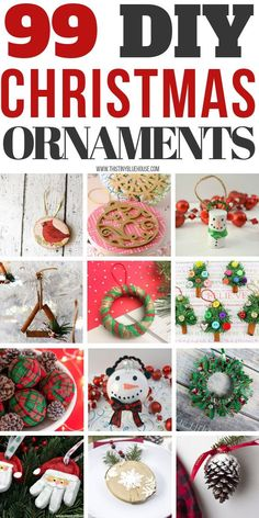 Add an extra special ornament or two to your holiday tree this year by making one or more of these 99 Gorgeous BEST DIY Christmas Ornaments. christmas ornaments ideas 99 DIY Christmas Ornaments - This Tiny Blue House Christmas Ornaments To Make, Homemade Christmas, Holiday Crafts, Christmas Holidays, Christmas Wreaths, Christmas Decorations, Holiday Tree, Christmas Lights, Half Christmas
