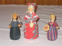 Swedish Handmade/Handpainted Vintage Wooden Dolls by DeeGeeRetro on Etsy