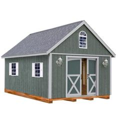 Belmont 12 Ft. X 24 Ft. Wood Storage Shed Kit With Floor Including 4x4 Runners