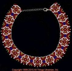 AllThingsUkrainian.com gherdany Bead Jewelry  # GIBN15123