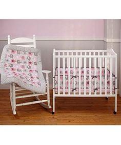 "Nojo ""Elephant Time"" 3-Piece Crib Bedding Set - pink/gray, one size Crown Crafts https://www.amazon.ca/dp/B00UBD9TXK/ref=cm_sw_r_pi_dp_.XObxb583Q25N"