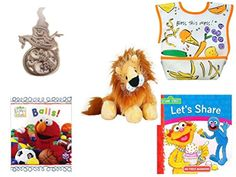 Childrens Gift Bundle  Ages 02 5 Piece  Ganz Babys First Christmas Pewter Snowman Ornament  Dex Dura Bib Large for ages 6  24 Months  Bless This Mess  Webkinz Lion 5  Elmos World First * To view further for this item, visit the image link.